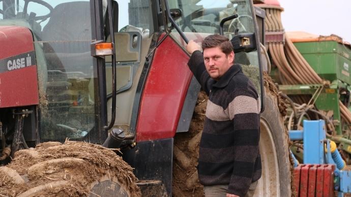 Xavier Petit, agriculteur à Bouglainval