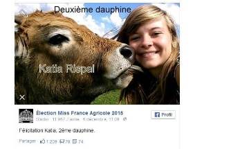 � Miss France agricole � a fait le buzz et excite les m�dias nationaux