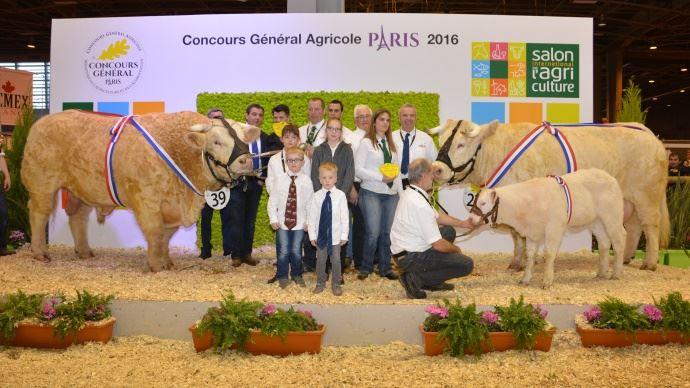 Haneton et Déesse, les champions charolais 2015 à Paris