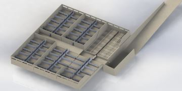Trac'R: une fosse deséparation de phases du lisier avec un robot racleur