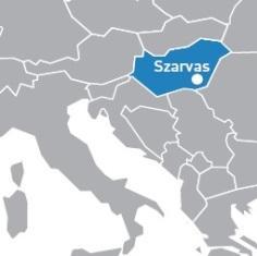 Carte de la Hongrie.