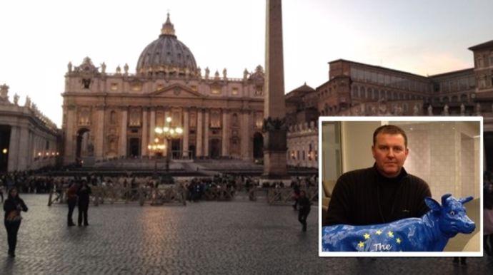 Dans les appartements pontificaux qui jouxtent la basilique Saint-Pierre de Rome, Boris Gondoin sera parmi les 140 éleveurs à être reçus par le Pape François mercredi 27 janvier 2016 dans la matinée.