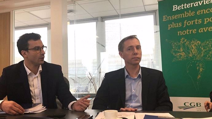 Pierre Rayé et Franck Sander, respectivement directeur et président de la CGB