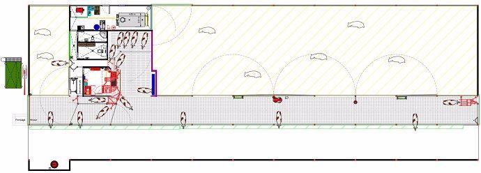 Plan de la stabulation vaches laitières de l'EARL du bois des saules (76)