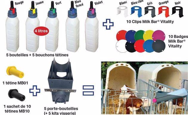 Biberons pour veaux laitiers