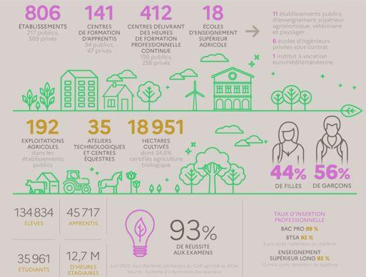 enseignement agricole en 2021 en chiffres