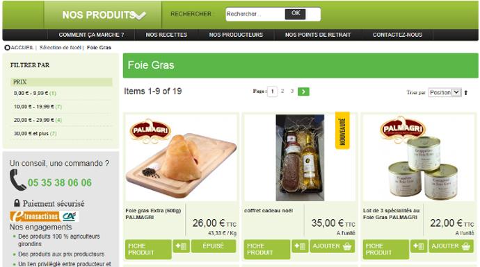 Durant les fêtes les consommateurs de Gironde pourront se laisser tenter par du foie gras.