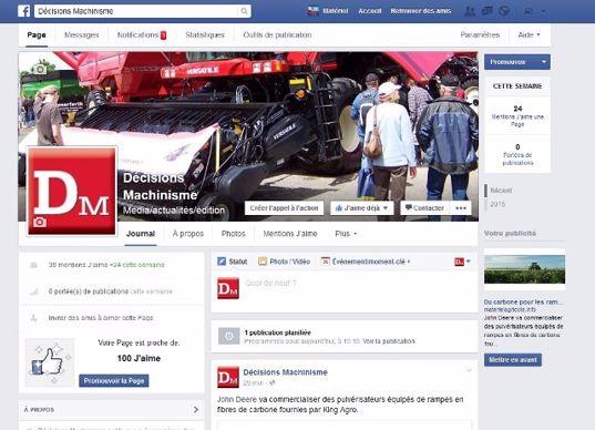 Page FB DM