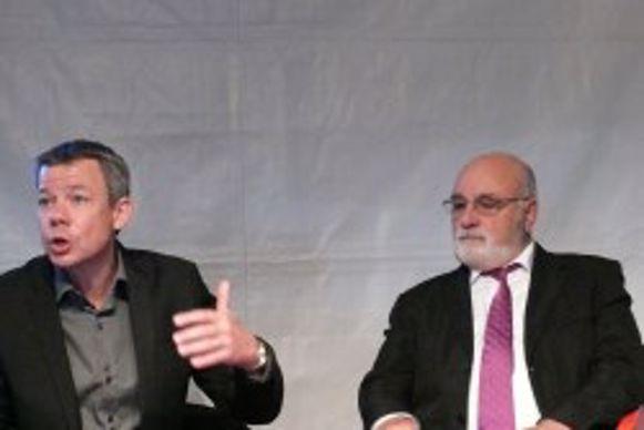 Christophe Juif et Hervé Bonnavaud de l'association Pacte pour le jardin
