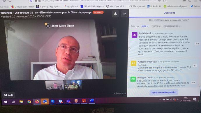 Jean-Marc Sipan, entrepreneur du paysage, représentant UNEP