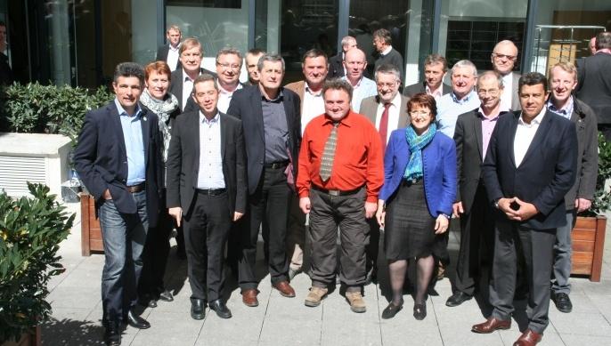 Le nouveau conseil d'admnistration élu pour 3 ans de la Fnsea.