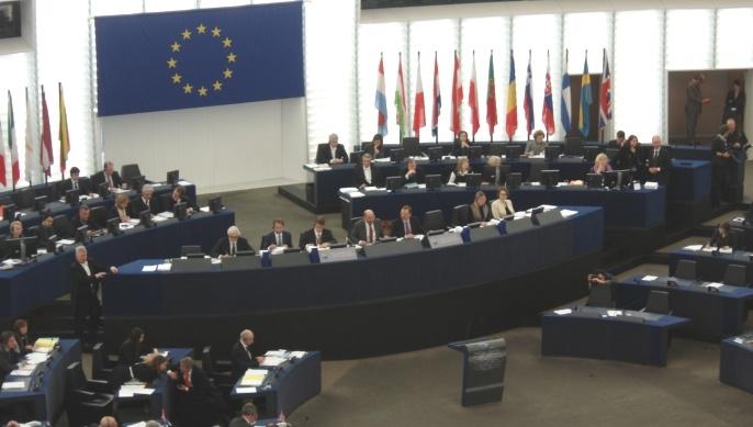 Parlement européen à Strasbourg. Les députés sont en session.