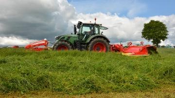 Frédéric a intensifié ses surfaces en herbe pour réduire les tourteaux