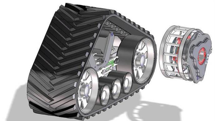 Le High Speed Track Concept intègre une transmission planétaire.