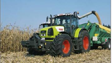 Claas Ares 826 RZ:témoin du passage de Renault Agriculture à Claas