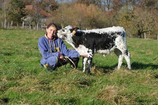 Sophie Berly, fille d'agriculteur dans le Doubs