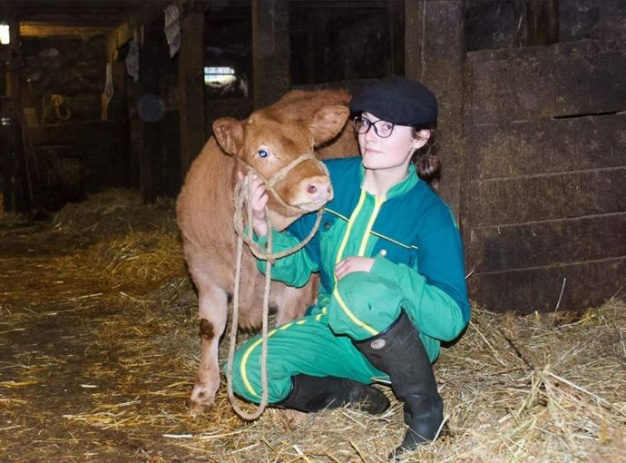 Louise Magne, future agricultrice en Corrèze