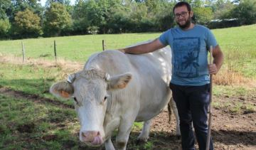 Sébastien Bera vend sa viande bovine via son site internet partout en France