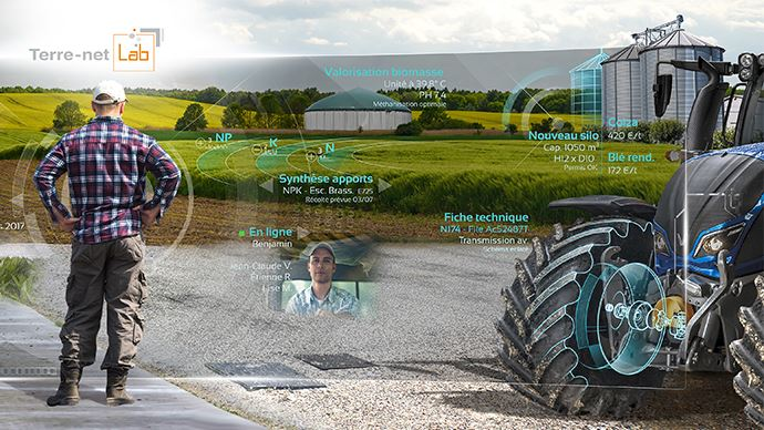 L'agriculture numérique. Extrait d'une fresque présente sur l'espace