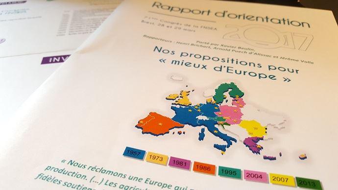 Tous les trois ans, la FNSEA débat d'un rapport d'orientation. Pour 2017, le syndicat le consacre à l'Europe et la Pac, en vue de la prochaine réforme après 2020.