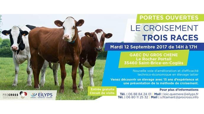 Eilyps et ProCross organisent une opération portes ouvertes au Gaec du gros chêne (35) le 12 septembre de 14h à 17h