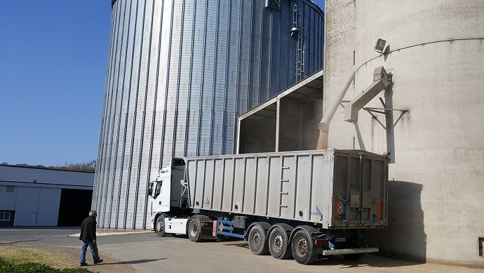 Sur un an, de juillet 2016 à juillet 2017, la baisse des exportations de céréales se chiffre à 79 M€.