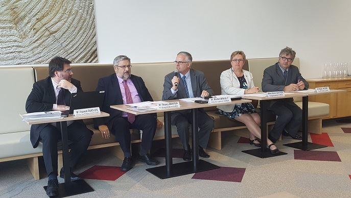 Les représentants de la MSA, mardi 10 octobre 2017, lors d'un point presse.