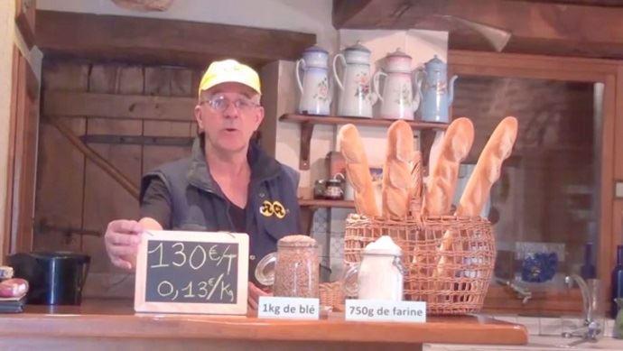 Un agriculteur de la Coordination rurale avait dénoncé, dans un vidéo, l'augmentation du prix de la baguette alors que le prix du blé payé aux producteurs est en baisse.