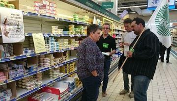 Des agriculteurs dénoncent «l'intox» de la «pénurie» dans les supermarchés