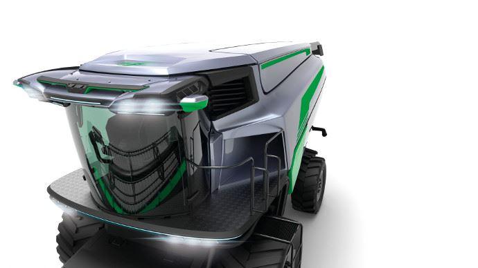 Le cluster Cab a présenté un concept de cabine innovant et futuriste bourré de technologie.