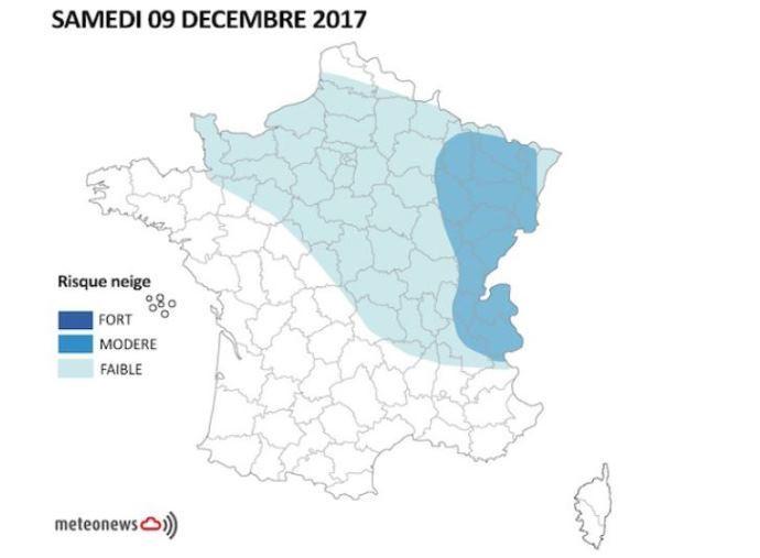 Froid, neige, giboulées prévus sur la France 8 décembre 2017