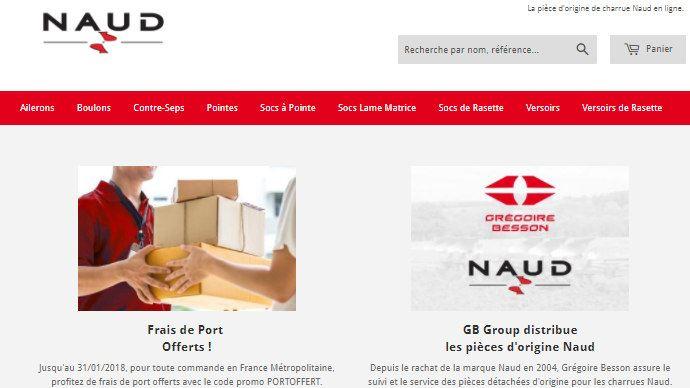 Le site piecesnaud.com est le premier site de vente directe de pièces d'origine géré par un constructeur