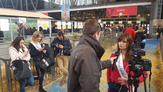Interview de miss agri 2018 par Terre-net