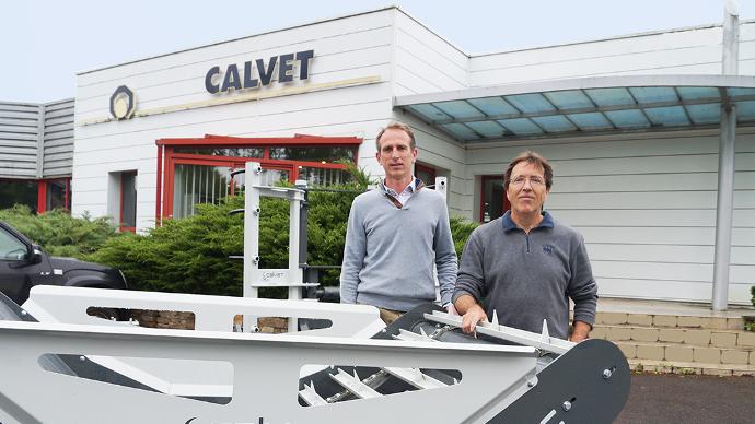 A gauche Régis Legendre, Président de LucasG et Calvet à droite Gilles Calvet, Directeur Général de Calvet.