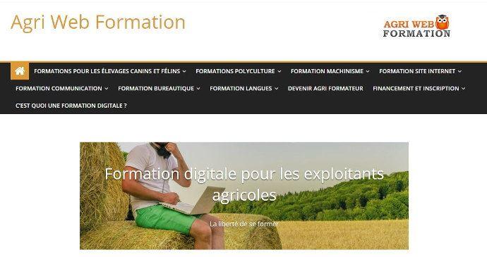 Déjà 20 formations proposées par Agriwebformation