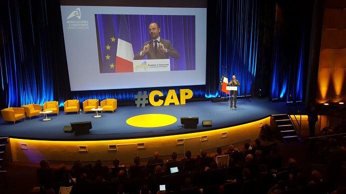 Le Premier ministre Édouard Philippe clôturant la convention annuelle 2018 des chambres d'agriculture.
