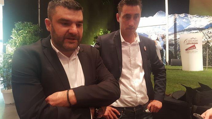 Jérémy Decerle et Samuel Vandaele, respectivement président et secrétaire général de Jeunes agriculteurs.