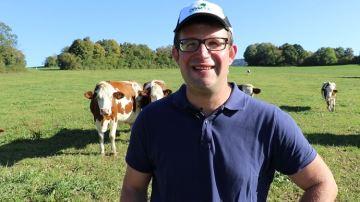 Camille Marguet (25) : «Les vaches sont traites 6 mois de l'année au pâturage»