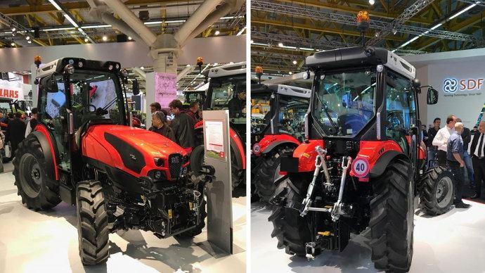 Same Frutteto F CVT, le premier tracteur de série en 4 roues directrices