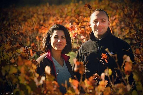 Émilie et Benjamin gèrent ensemble un domaine de 60ha de vigne