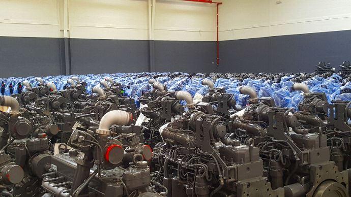 Zone de stockage des moteurs
