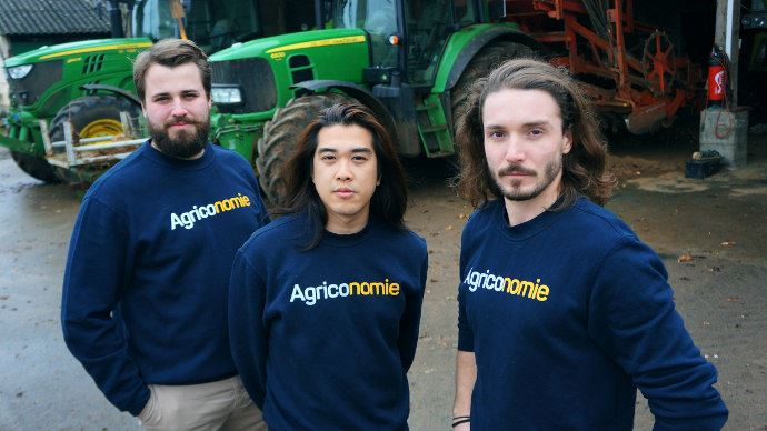 De gauche à droite: Clément Le Fournis, Dinh Nguyen et Paolin Pascot, les fondateurs d'Agriconomie
