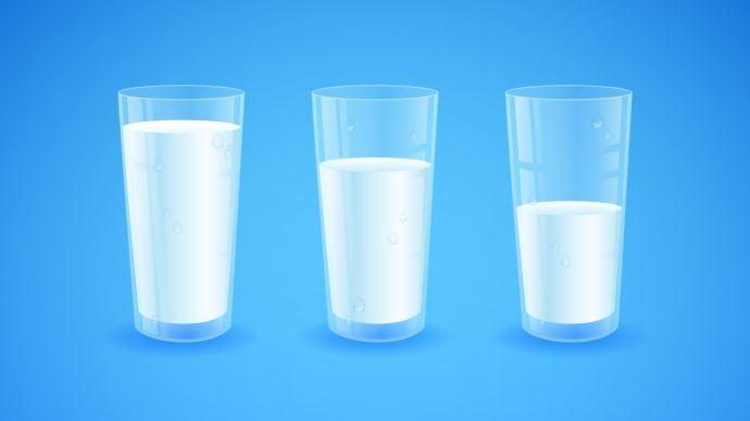 Verres de lait
