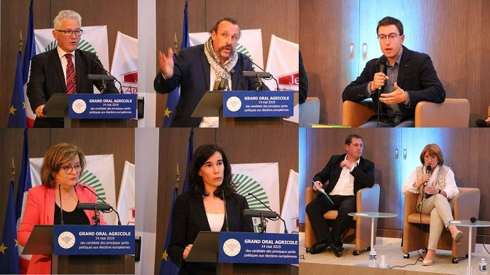 Les représentants des principales listes candidates aux élections européennes ont défilé pour expliquer leur programme agricole, à l'invitation de la FNSEA et JA.