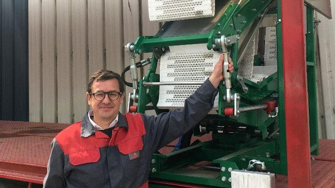 Jean-François Toubeaux, gérant de Delecroix Harvesting, un leader technologique de la remorque récolteuse