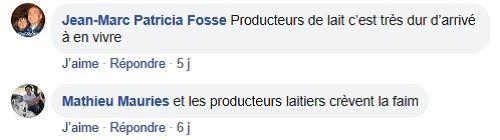 post facebook exportations francaises produits laitiers