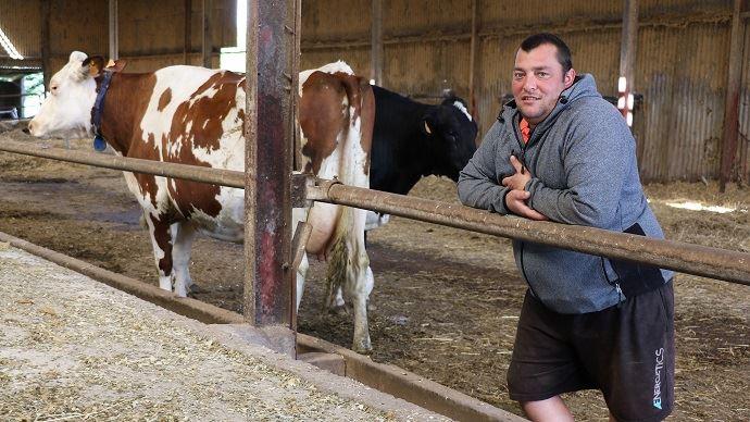 Sébastien Bonamy explique: «La morphologie et la longévité son indissociables. On sélectionne principalement sur les pattes, la mamelle et la solidité. En gros, on veut des vaches «BB» : belles et bonnes! Même sur des vaches à index, il faut de la morpho.»