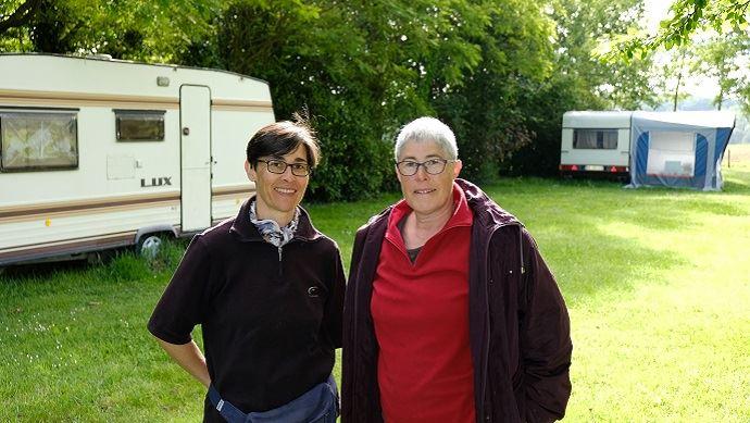 muriel audrain et marylene ducoux camping de la ferme la pequiniere loire atlantique