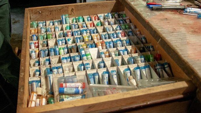 La pharmacie du troupeau tient dans un tiroir!