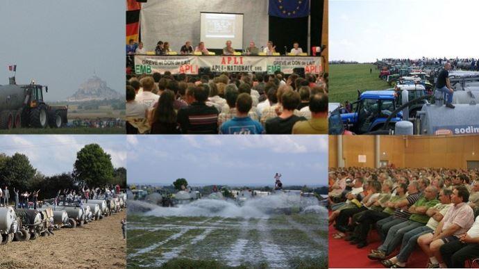 En septembre 2009, les éleveurs de l'Apli passaient à l'action et entamaient, le 10, la grève du lait.